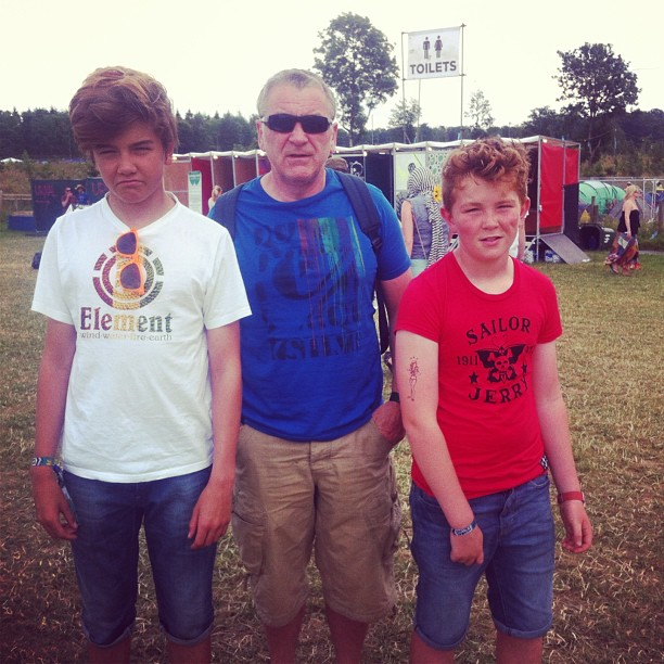 With dad and @benmcdonald2 at #kendalcalling #kc2013 #seeyouinthefields #music #unreal #pootopia