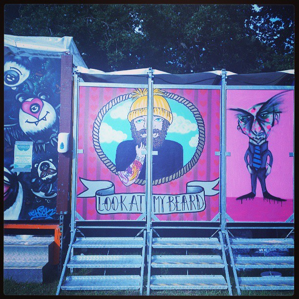 #Pootopia! #lookatmybeard #KendalCalling2013 #KendalCalling #graffiti #beard