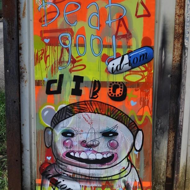 Dead good dibo. Dedicated to all those with type 1 diabetes... #pootopia #diabetes #stencil