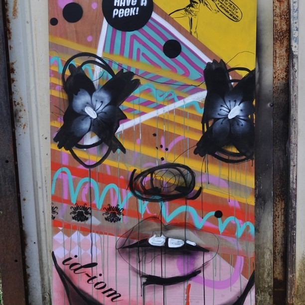 This board is something akin to a lunatic's dream. Not that I'd know... #pootopia #graffiti #stencil #paint