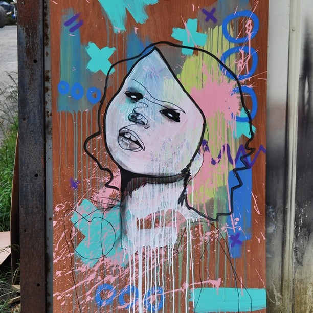 Here's the not very shy and retiring original Grace. Well, almost original Grace #pootopia #stencil #graffiti