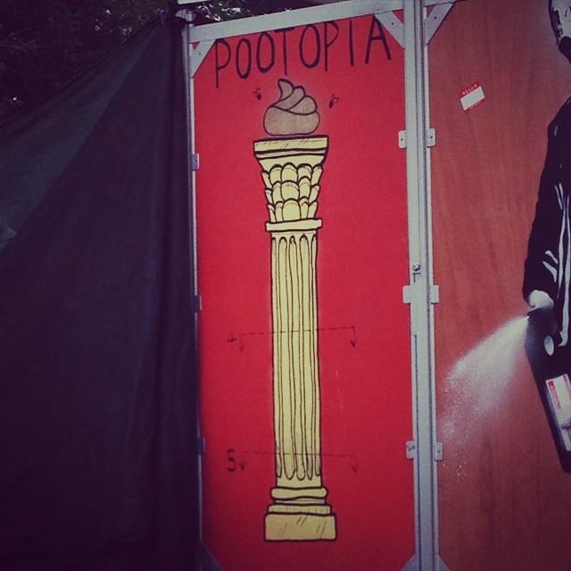 My favourite toilet #pootopia #toilet #ecoloo #earthfriendly #glastonbury #glasto #sawdust #flush