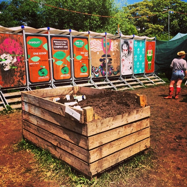 Not gonna lie, won't miss these as much... #glastonbury #longdrop #pootopia #compost #toilet