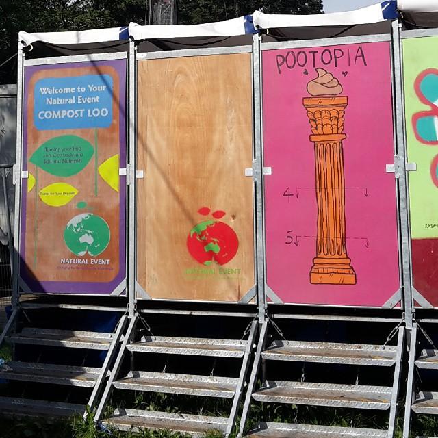 #pootopia #compostloos #glastonbury2015