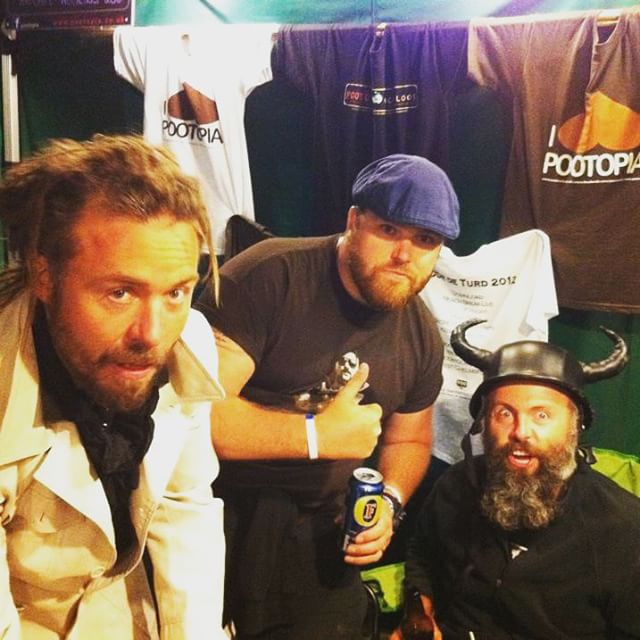 With the boys when I played Kendal Calling festival #rockers #Kendal #musician #KendalCalling #pootopia #northernenglishbloke #Beard #Scouse